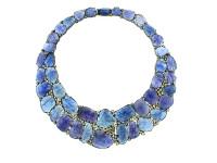 Tanzanite & 12.40 ct Diamond Necklace