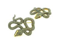 7.02 ct Diamond Snake-Shaped Brooch