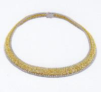 63.15 Carat Fancy Yellow Diamond Necklace SEN15185