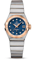 Omega Constellation Co-Axial 27 mm Brushed Steel & Red Gold 123.20.27.20.53.001