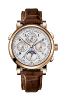 A. Lange & Sohne 1815 Rattrapante Perpetual Calendar Pink Gold Watch 421.032
