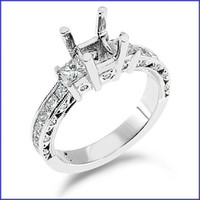 Gregorio Platinum Engagement Diamond Ring R-145
