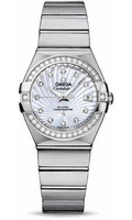 Omega Constellation Co-Axial 27 mm Brushed SS 123.15.27.20.55.001