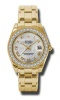 Rolex- Datejust 34mm Special Edition Yellow Gold Masterpiece 34 Dia Bezel 81298MR