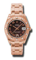 Rolex- Datejust 34mm Special Edition Pink Gold Masterpiece 12 Dia Bezel 81315BRDR