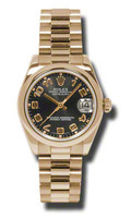 Rolex- Datejust 31mm Gold President PG Domed Bezel President 178245BKA
