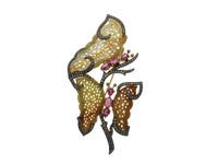Jade, Tourmaline & 1.92 ct Diamond Butterfly-Shaped Brooch