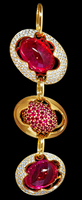 Mousson Atelier Caramel Collection Gold Tourmaline, Ruby & Diamond Pendant P0034-0/2