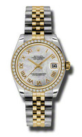 Rolex Datejust 31mm Steel & Gold 46 Dia Bezel Jubilee 178383MRJ