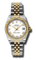 Rolex Datejust 31mm Steel & YG 24 Dia Bezel Jubilee 178343WRJ