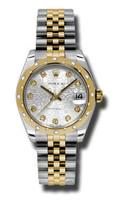Rolex Datejust 31mm Steel & YG 24 Dia Bezel Jubilee 178343SJDJ