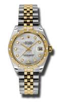 Rolex Datejust 31mm Steel & YG 24 Dia Bezel Jubilee 178343MDJ