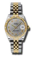 Rolex Datejust 31mm Steel & YG 24 Dia Bezel Jubilee 178343GRJ