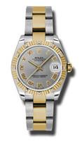 Rolex Datejust 31mm Steel & Gold 12 Dia Bezel-Oyster 178313GRO
