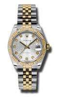 Rolex Datejust 31mm Steel & YG 12 Dia Bezel Jubilee 178313SJDJ