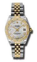 Rolex Datejust 31mm Steel & YG 12 Dia Bezel Jubilee 178313MDJ