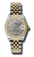 Rolex Datejust 31mm Steel & YG 12 Dia Bezel Jubilee 178313GRJ