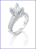 Gregorio 18K White Diamond Engagement Ring MTR-162