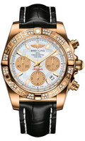 Breitling Chronomat 41 RG Dia Bezel Croco Strap Deployant HB0140AA/G759