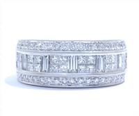 1.31 cttw Diamond Ring In 18k White Gold