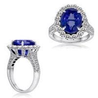 9.83 Ct Tanzanite & Diamond Ring (rd 1.88ct, Tz 7.95ct)