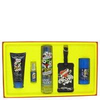 Gift Set -- 3.4 oz Toilette  Spray + 3 oz Hair & Body Wash + 2.75 oz Deodorant Stick + .25 oz Mini EDT Spray + Luggage Tag