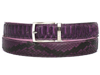 PAUL PARKMAN Men's Purple Genuine Python (snakeskin) Belt (IDB03-PURP)