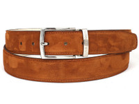 PAUL PARKMAN Men's Tobacco Suede Belt (IDB06-TABA)