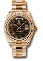 Rolex Watches: Day-Date II President Pink Gold - Fluted Bezel  218235 brwap