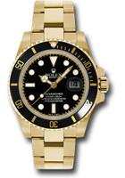 Rolex Watches: Submariner Gold 116618 bk