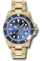Rolex Watches: Submariner Gold 116618 bl