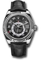 Rolex Watches: Sky-Dweller White Gold 326139 bk