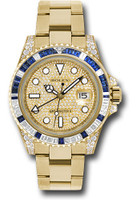 Rolex Watches: GMT-Master II Yellow Gold 116758SA pave