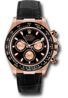 Rolex Watches: Daytona Everose Gold - Leather Strap 116515LN bkp
