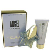 ANGEL by Thierry Mugler Gift Set -- 1.7 oz Eau De Parfum Star Spray Refillable + 3.5 oz Body Lotion
