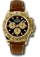 Rolex Watches: Daytona Yellow Gold - Leather Strap 116518 pnbks