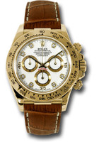 Rolex Watches: Daytona Yellow Gold - Leather Strap 116518 wdbr