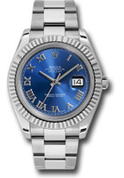 Rolex Watches: Datejust II 41mm Steel and White Gold - Fluted Bezel - Oyster 116334 blro