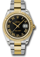 Rolex Watches: Datejust II 41mm Steel and Yellow Gold - Fluted Bezel - Oyster 116333 bkro