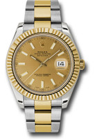 Rolex Watches: Datejust II 41mm Steel and Yellow Gold - Fluted Bezel - Oyster 116333 chio