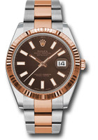 Rolex Watches: Datejust 41 Steel and Pink Gold - Fluted Bezel - Oyster 126331 choio