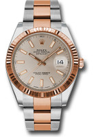 Rolex Watches: Datejust 41 Steel and Pink Gold - Fluted Bezel - Oyster 126331 suio