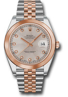Rolex Watches: Datejust 41 Steel and Pink Gold - Smooth Bezel - Jubilee 126301 sudj