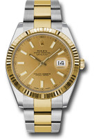 Rolex Watches: Datejust 41 Steel and Yellow Gold - Fluted Bezel - Oyster 126333 chio