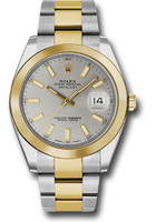 Rolex Watches: Datejust 41 Steel and Yellow Gold - Smooth Bezel - Oyster  126303 sio