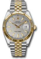 Rolex Watches: Datejust 41 Steel and Yelow Gold - Fluted Bezel - Jubilee 126333 sij