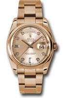 Rolex Watches: Day-Date President Pink Gold - Domed Bezel - Oyster 118205 chdo