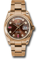 Rolex Watches: Day-Date President Pink Gold - Domed Bezel - Oyster 118205 chodro