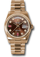 Rolex Watches: Day-Date President Pink Gold - Domed Bezel - President 118205 chodrp