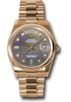 Rolex Watches: Day-Date President Pink Gold - Domed Bezel - President  118205 dkmdp